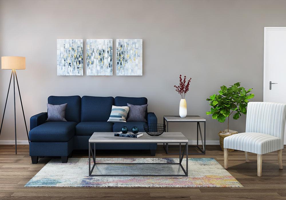 Soco Lite Living Room Rental Furniture Set