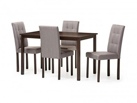 Modern Light Grey Dining Set 1