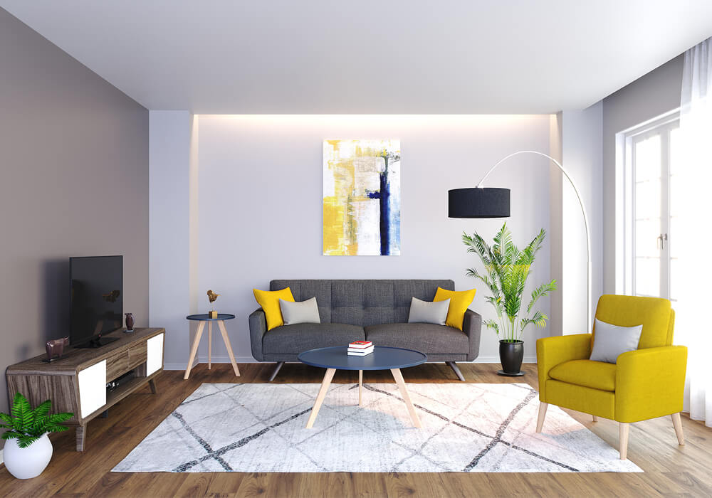 Tribeca II Living Room Rental Furniture Set