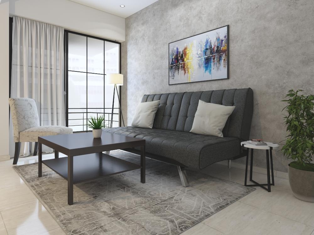 Zen Living Room Rental Furniture Set 4