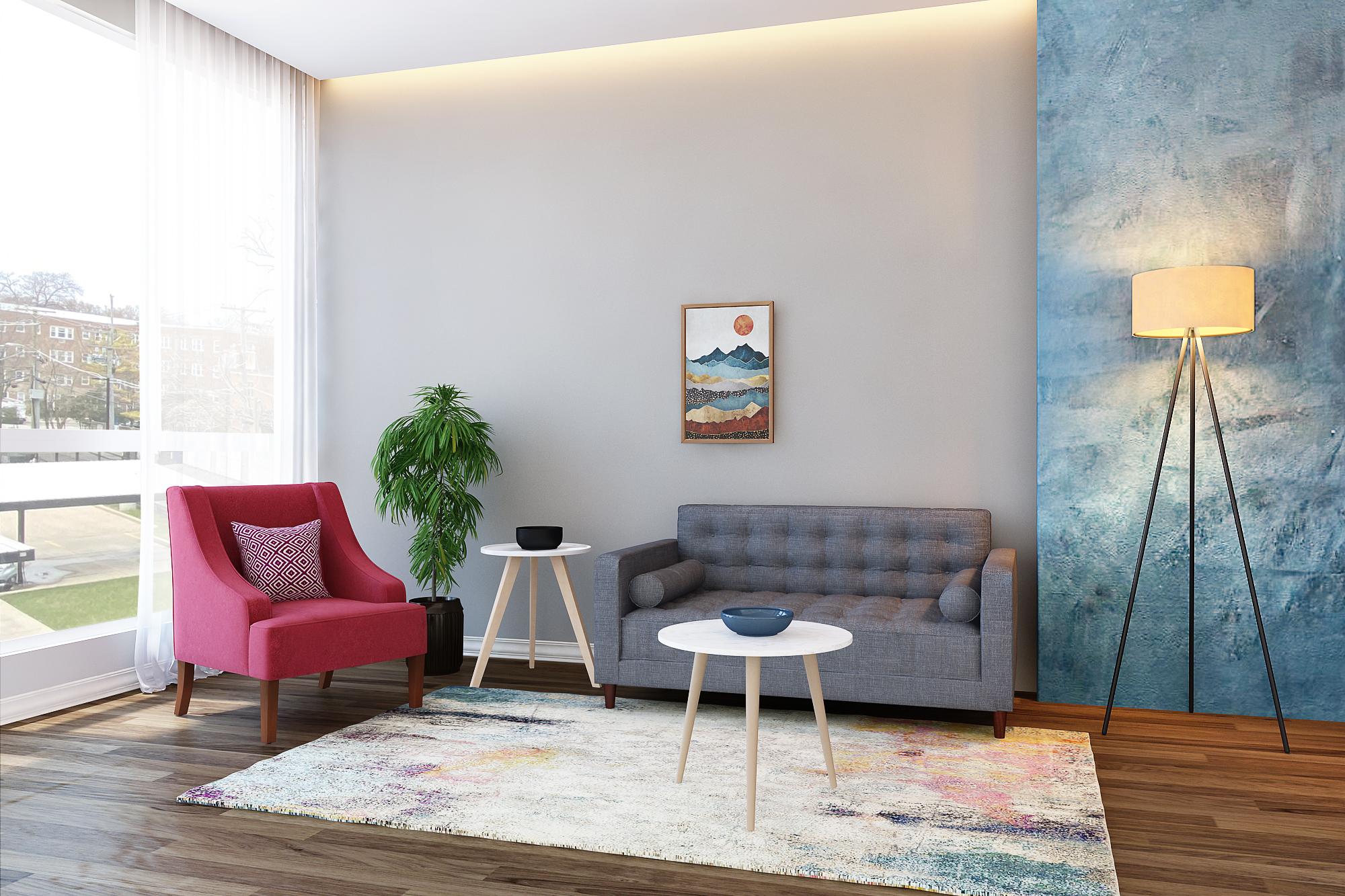 Joy Living Room Rental Furniture Set 1
