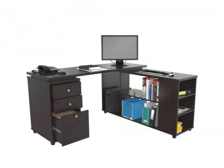 Inhabitr L-Shaped Desk