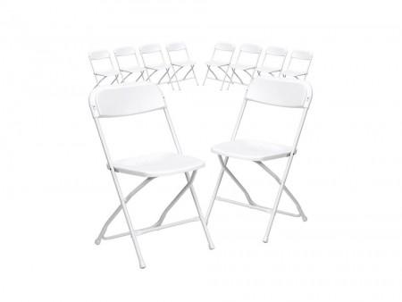 10 Piece Plastic Chairs