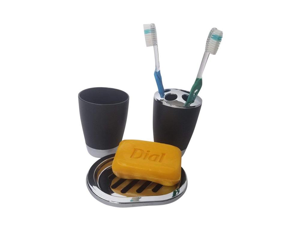 Inhabitr Basic Bath Accessory Set 2