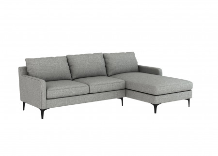 Medici Grey Linen Sectional Sofa