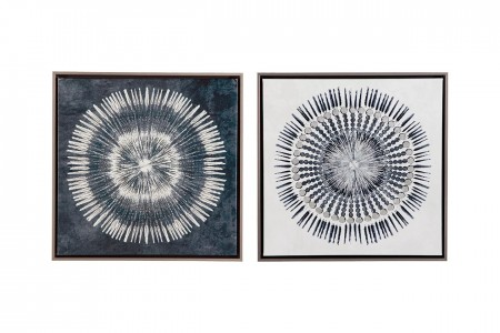 White and Blue Concentric Artwork