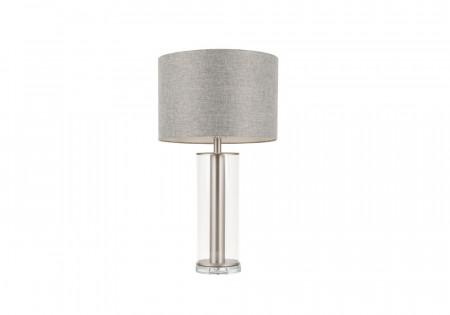 Silver Fabric Lamp