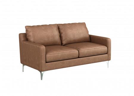 Medici Leather Love Seat