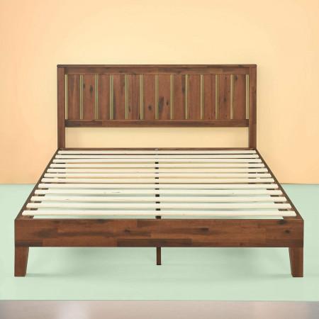 David Wooden Platform Bed